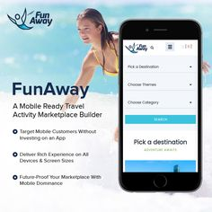 Desktop or mobile, FunAway based #TravelBookingMarketplaces deliver customers a seamless booking experience across all #platforms. Reach a wider audience with just one platform – launch your #OnlineTravelBookingBusiness with FunAway http://www.fatbit.com/online-travel-activity-marketplace-solution.html