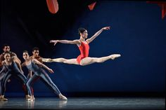 Inspiration for Emily. -->Frances Chung in Ratmansky's <I>Piano Concerto #1</I> from <I>Shostakovich Trilogy</I>.<br />© Erik Tomasson. (Click image for larger version)