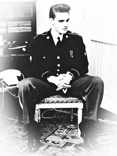 Elvis Presley when he was in the army