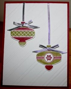 Christmas Ornament Card - pop up  Made using Stampin' Up!'s new Christmas Collectibles bundle (includes stamp set and matching ornament)