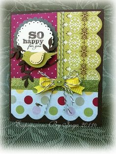 cute card made with Flea Market papers!