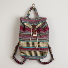 One of my favorite discoveries at WorldMarket.com: Blue Carpet Backpack