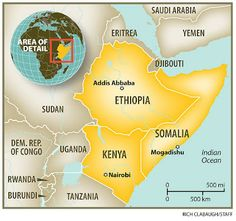 Horn Of Africa Somalia Acrylic Painting MAPS Pinterest - Horn of africa map