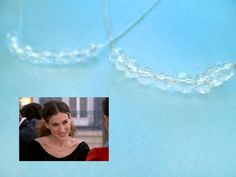 Propose Necklace, Clear Crystal Row Necklace, Sterling Silver Chain | simplecrystal - Jewelry on ArtFire