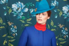Turquoise felt trilby with gold maple leaf Classic Feminine Style, Rachel Trevor Morgan, Cheap Boutique Clothing, Fall Winter, Autumn, Winter 2017, Felt Hat, Fashion Details, Hats For Women