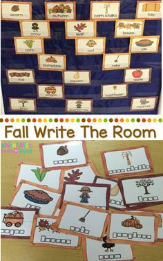 Increase language skills in your classroom by using this  Write The Room- Fall  You can use them for a variety of activities or just keep them displayed through the months as a visual resource for your kids. Writing printables are also included should you want to display these vocabulary cards in your writing center.