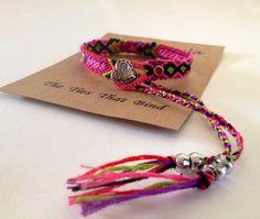 2way closure/Friendship bracelet/Heart by IslandChula on Etsy