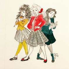 "ladiesoftheatre: "" ""Are we gonna have a problem?"" Day 291: Heather Chandler, Heather McNamara, and Heather Duke (Heathers) """