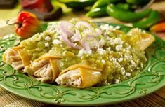Enchiladas Verdes, ummm can we say I should buy stock in this recipe?! I've eaten it so many times and I LOVE it!