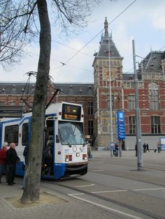 tram at the Centraal Station, Amsterdam