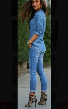 I love this outfit but the shoes, I would wear nude shoes!