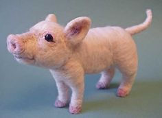Needle Felted Piglet