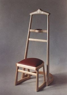 wood valet stand and stool