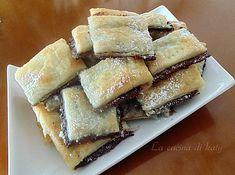 Mini Desserts, Sweet Desserts, Sweet Recipes, Dessert Recipes, Cooking Cake, Cooking Recipes, Nutella Bar, Chocolate Sweets, Party Finger Foods