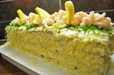 Voileipäkakku – syntisenhyvaa Sandwich Cake, Sandwiches, Grains, Rice, Foods, Food Food, Food Items, Paninis, Seeds