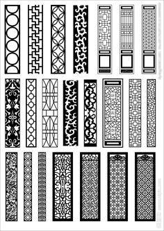 22 different design dxf file