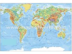 free map of the world free printable world maps. Black Bedroom Furniture Sets. Home Design Ideas