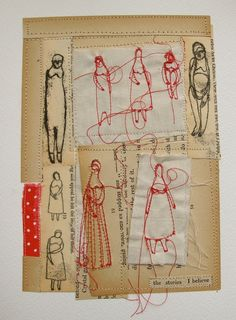 the stories I believe  mixed media embroidery by cathycullis, £45.00
