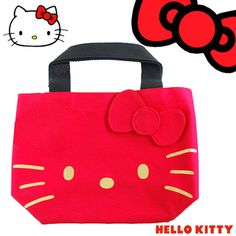 8f84528941c Love heaven  Hello Kitty Hello Kitty favor halochiteepreshas face print tote  bag red x Gold Disney gifts gifts - Purchase now to accumulate reedemable  ...