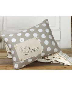 Honey and Me All You Need Is Love Throw Pillow | zulily