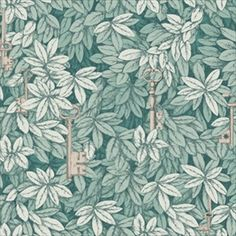 Cole and Son Chiavi Segrete wallpaper in Green from The Fornasetti II Collection Cole And Son Wallpaper, Green Wallpaper, Paper Wallpaper, Wallpaper Online, Wallpaper Roll, Wall Wallpaper, Custom Wallpaper, Silver Wallpaper, Wallpaper Designs