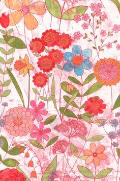 Springtime Floral by Natalie Ryan, via Behance