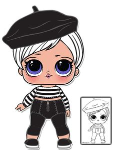 Beatnik Babe Series 3 L.O.L Surprise Doll Coloring Page