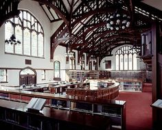 Reading room, Williston Library, Mount Holyoke.