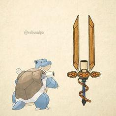 No. 009 - Blastoise. #pokemon #blastoise #gunblade #pokeapon