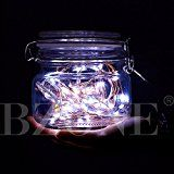 BZONE Mini Micro Battery Powered LED String Light Copper Wire Bedroom LED Fairy Starry Lights (20 LEDs Cool White... christmas deals week