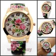 Flower Cute Flower Analog Stretchable Iron Quartz Wrist Watch Hour Women...so cute just got it