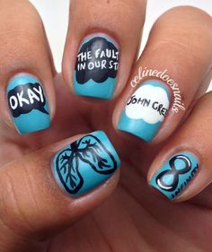 TFIOS Manicure!!!!!!!! Oh just seeing these makes me want to cry!!!!!!!