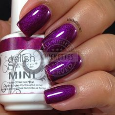 Pretty Painted Finger & Toes Nail Polish| Serafini Amelia| Gelish Berry Buttoned Up swatch by Chickettes.com
