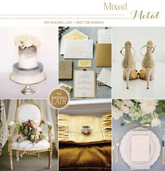 Metallic Winter Wedding Inspiration in Gold, Silver, and Bronze