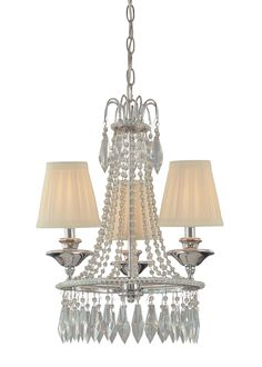 Minka Lavery Chrome Traditional Chandelier at Lowe's. The Minka Lavery 3 light chrome mini chandelier will give your kitchen nook or powder room a stylish, finished look. The beauty of the shirred cloth Wagon Wheel Chandelier, 3 Light Chandelier, Chandelier Shades, Crystal Chandeliers, Glass Chandelier, Lamp Shades, Minka, Fabric Shades, Home Lighting