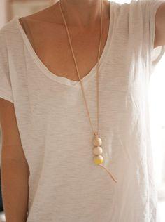 Yellow St Tropez necklace by levoyagecreatif on Etsy, $41.00