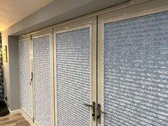 Perfect fit blinds in Japonica silver the perfect solution to your french doors or bifold doors. Make an appointment for a free quote online http://ift.tt/1ocfyRO or call us on 01858 456419