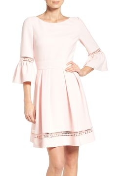 Free shipping and returns on Eliza J Bell Sleeve Dress (Regular & Petite) at Nordstrom.com. This fun and flirty party dress creates a classically femme silhouette with lacy bell sleeves mirrored along the swingy hem.