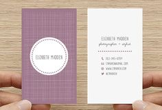 Double sided Business Card, Calling Card, Printable Custom Digital Download DIY…