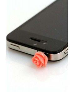 Coral Rose iPhone Plug