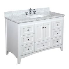The Abbey: quality, style, and utility in one.  This bathroom vanity set features:  High-end furniture-grade construction. Made with 100% solid wood and ply...