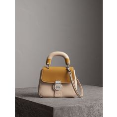 Burberry The Small DK88 Top Handle Bag with Geometric Print ( 2,185) ❤ liked  on Polyvore featuring bags, handbags, oversized leather handbags, ... 55d37e44a9