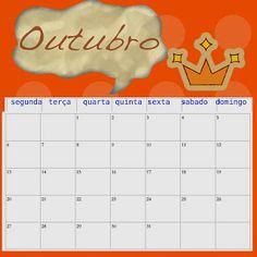 Calendário 2014 semanal para impressão