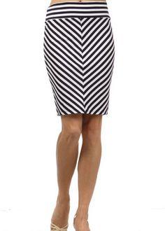 Chevron Stripe Skirt in Black/Ivory...Id want it a little bit longer though