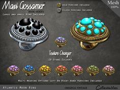 Maxi Gossamer Rings - Atlantis Moon Ring