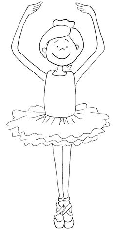 Barbie Ballerina Printable Coloring Pages 3
