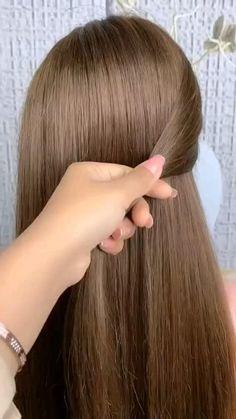 Hairdo For Long Hair, Easy Hairstyles For Long Hair, Long Hair Cuts, Easy Wedding Hairstyles, Easy Everyday Hairstyles, Short Hair, Hair Ponytail Styles, Hair Up Styles, Hair Style Vedio