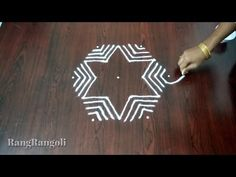 Rangoli Designs Latest, Rangoli Designs With Dots, Rangoli With Dots, Beautiful Rangoli Designs, Simple Rangoli, Rangoli Borders, Rangoli Border Designs, Kolam Designs, Diya Rangoli