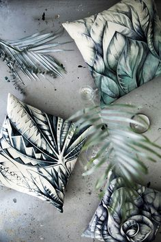 I like that the cushions have taken inspiration from the natural shape and colour of leaves/plants.