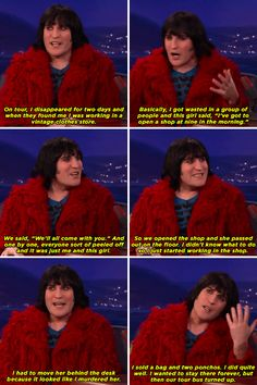 When he went missing on tour and was found working in a vintage clothes shop. | 22 Times Noel Fielding Was The Most Weirdly Hilarious Man In Britain